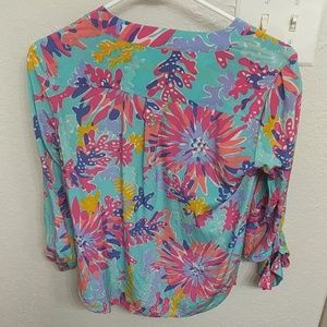 Lilly Pulitzer Tops - GORGEOUS Lilly Pulitzer Silk Blouse